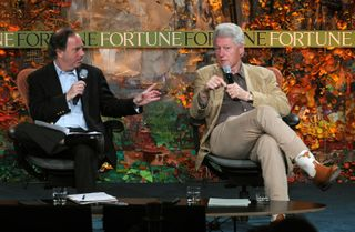Clinton and Andy Serwer