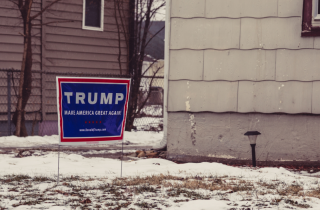 Donald Trump yard sign